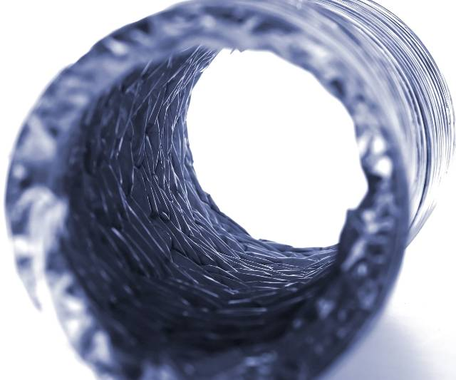 Isolated Dryer Vent Hose on White
